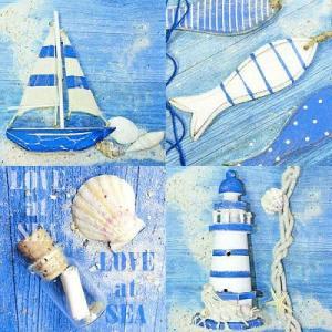Ambiente オランダ ペーパーナプキン LOVE AT SEA 13308365 バラ売り2枚1セット デコパージュ ドリパージュ|ccpopo