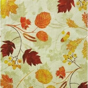 Ambiente オランダ ペーパーナプキン 優美な秋景色 Autumn Grace 13308855 バラ売り2枚1セット デコパージュ ドリパージュ|ccpopo