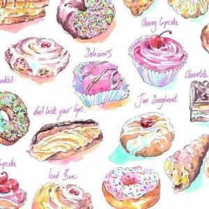 Ambiente オランダ ペーパーナプキン Yummy Cakes 13308945 バラ売り2枚1セット デコパージュ ドリパージュ|ccpopo