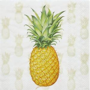 Ambiente オランダ ペーパーナプキン トロピカルフルーツ パイナップル Tropical Fruit 13309530 バラ売り2枚1セット デコパージュ ドリパージュ|ccpopo