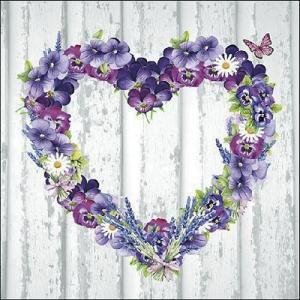 Ambiente オランダ ペーパーナプキン パープルハート Purple Heart 13309915 バラ売り2枚1セット デコパージュ ドリパージュ|ccpopo
