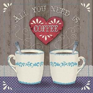 Ambiente オランダ ペーパーナプキン All You Need Is Coffee 13309930 バラ売り2枚1セット デコパージュ ドリパージュ|ccpopo