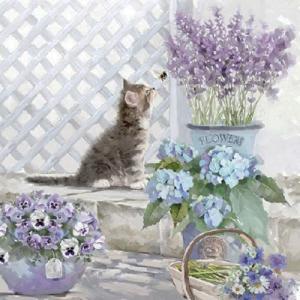 Ambiente オランダ ペーパーナプキン 猫 Kitten 13309990 バラ売り2枚1セット デコパージュ ドリパージュ|ccpopo