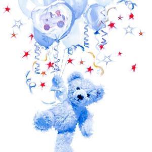Ambiente オランダ ペーパーナプキン テディベア 青 ブルー Teddy Blue 13310090 バラ売り2枚1セット デコパージュ ドリパージュ ccpopo