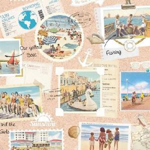 Ambiente オランダ ペーパーナプキン Vacation Scrapbook 13310105 バラ売り2枚1セット デコパージュ ドリパージュ|ccpopo