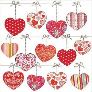 Ambiente オランダ ペーパーナプキン Hearts On Wire 13310145 バラ売り2枚1セット デコパージュ ドリパージュ|ccpopo