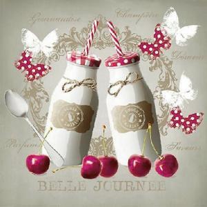 Ambiente オランダ ペーパーナプキン ミルクボトル Milk Bottles 13310220 バラ売り2枚1セット デコパージュ ドリパージュ|ccpopo