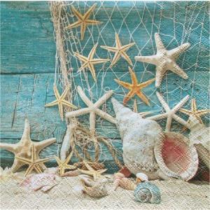 Ambiente オランダ ペーパーナプキン Starfish 13310365 バラ売り2枚1セット デコパージュ ドリパージュ|ccpopo