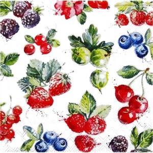 Ambiente オランダ ペーパーナプキン ミックスフルーツ 果物 Mixed Fruit 13310400 バラ売り2枚1セット デコパージュ ドリパージュ|ccpopo