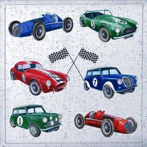 Ambiente オランダ ペーパーナプキン クラシックカー クラッシックカー 車 車柄 車両 Classic Cars 13311310 バラ売り2枚1セット デコパージュ ドリパージュ|ccpopo