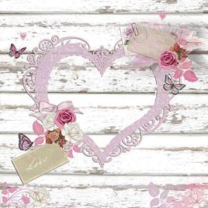 Ambiente オランダ ペーパーナプキン Love Tags ハート 13311375 バラ売り2枚1セット デコパージュ ドリパージュ|ccpopo