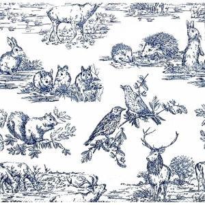 Ambiente オランダ ペーパーナプキン 森の動物達 Woodland Animals 13312365 バラ売り2枚1セット デコパージュ ドリパージュ|ccpopo