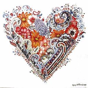 Ambiente オランダ ペーパーナプキン スプリングハート Spring Heart 白背景 13312670 バラ売り2枚1セット デコパージュ ドリパージュ|ccpopo