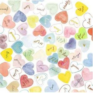 Ambiente オランダ ペーパーナプキン スイートハート Sweet Hearts 13312760 バラ売り2枚1セット デコパージュ ドリパージュ|ccpopo