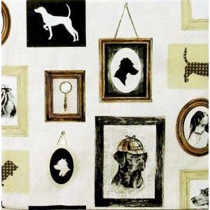 Ambiente オランダ ペーパーナプキン 探偵犬 Detective Dog 13312900 バラ売り2枚1セット デコパージュ ドリパージュ ccpopo