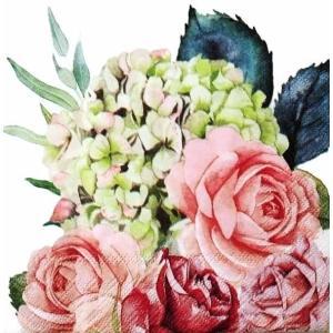 Ambiente オランダ ペーパーナプキン ローズガーデン 薔薇 Rose Garden 13313265 バラ売り2枚1セット デコパージュ ドリパージュ|ccpopo