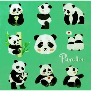 Ambiente オランダ ペーパーナプキン パンダ Panda Bears 13313375 バラ売り2枚1セット デコパージュ ドリパージュ|ccpopo