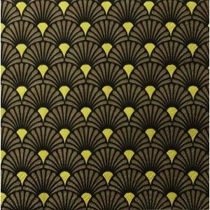 Ambiente オランダ ペーパーナプキン 扇 ブラック 和柄 和風 Art Deco Black Gold バラ売り2枚1セット 13313730 デコパージュ ドリパージュ|ccpopo