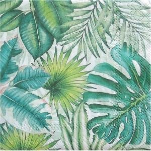 1枚バラ売り25cmペーパーナプキン Ambiente オランダ トロピカルリーブス Tropical Leaves 12510940 紙コースター デコパージュ ドリパージュ|ccpopo