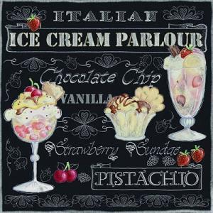 2枚1セット25cmペーパーナプキン Ambiente オランダ アイスクリーム Ice Cream Black 12508955 紙コースター デコパージュ ドリパージュ ccpopo