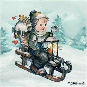 2枚1セット25cmペーパーナプキン Ambiente オランダ Ride Into Christmas  そりすべりをする可愛らしい男の子 32510770 紙コースター デコパージュ ドリパージュ ccpopo