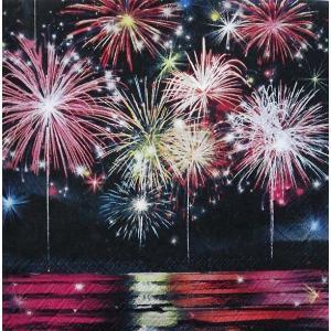 Ambiente オランダ ペーパーナプキン 夏の花火 Fireworks 33310555 バラ売り2枚1セット デコパージュ ドリパージュ|ccpopo