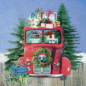 Ambiente オランダ ペーパーナプキン On the Road  旅行中 33310795 バラ売り2枚1セット デコパージュ ドリパージュ|ccpopo