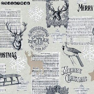 Ambiente オランダ ペーパーナプキン クリスマス 楽譜 音符 音楽柄 JOY THE WORLD 33310835 バラ売り2枚1セット デコパージュ ドリパージュ|ccpopo