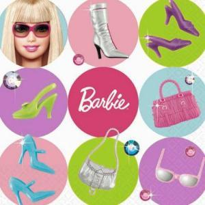 1枚バラ売り25cmペーパーナプキン バービー Barbie アメリカ製 MADE IN USA 紙コースター デコパージュ ドリパージュ 509379|ccpopo