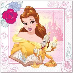 1枚バラ売りペーパーナプキン 美女と野獣 BEAUTY AND THE BEAST ディズニー Disney アメリカ MADE IN USA デコパージュ ドリパージュ 紙ナフキン paper napkins|ccpopo