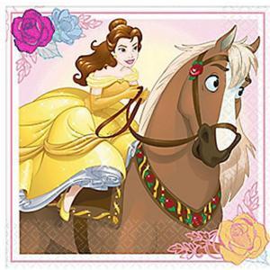 1枚バラ売り25cmペーパーナプキン 美女と野獣 BEAUTY AND THE BEAST ディズニー Disney MADE IN USA 紙コースター デコパージュ ドリパージュ 501698 ccpopo
