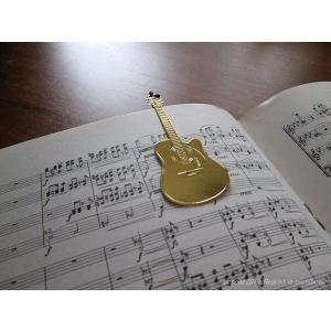 おしゃれな楽器のしおり ギター 金色のブックマーク 18K Gold-P ccpopo