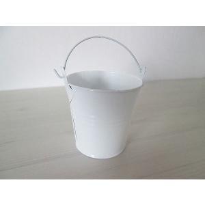 白塗りブリキ缶 白無地デコパージュ素材 ドリパージュ マテリアル|ccpopo