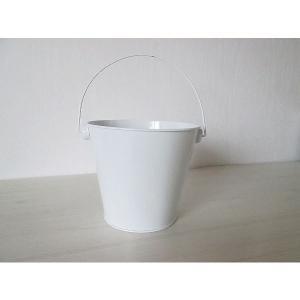 白塗りブリキ缶 大 白無地デコパージュ素材 ドリパージュ マテリアル|ccpopo