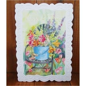 廃盤レア品 Made in USA キャロルウィルソン 大判カード Happy Birthday お誕生日 CG1121 大判カード・封筒 1セット|ccpopo