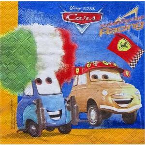 1枚バラ売りペーパーナプキン ディズニー Disney CARS カーズ Supercharged 紙ナフキン デコパージュ ドリパージュ|ccpopo