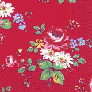 廃盤 レア品 ペーパーナプキン キャスキッドソン Cath Kidston KENTISH ROSE バラ売り2枚1セット L-535900 デコパージュ ドリパージュ|ccpopo