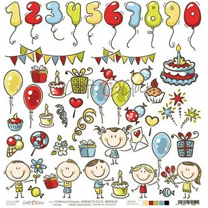 Craft O'Clock ポーランド 作品販売可能ペーパー1枚 片面柄 CHILDHOOD CRAYONS III お誕生日会 子供達 12インチ アシッドフリー CC-DOD-III-CHC-26|ccpopo