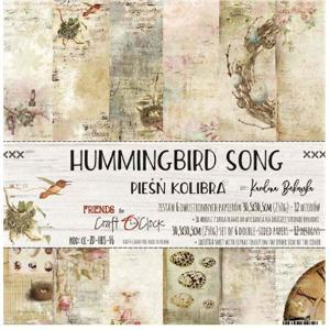 Craft O'Clock ポーランド 作品販売可能 スクラップブッキング用ペーパー HUMMINGBIRD SONG 12インチ アシッドフリー 6シート 12デザイン|ccpopo