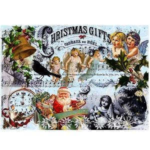 ロシア 露 クラフトプレミア Craft Premier 作品販売可デコパージュ用ライスペーパー A3 「クリスマス」 25g/m CD09492  正規輸入品|ccpopo