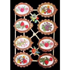 作品販売可能 ドイツ製クロモス 1シート 7052 ラメ無 コラージュ デコパージュなどのハンドメイド素材に フラワーメダリオン flower medallions|ccpopo