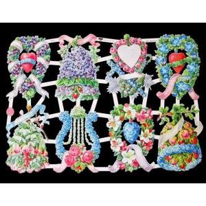 作品販売可能 ドイツ製クロモス 1シート 7416 ラメ無 コラージュ デコパージュなどのハンドメイド素材に 素敵な花 liebliche Blumen|ccpopo