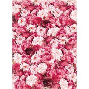 ロシア 露 クラフトプレミア Craft Premier 作品販売可デコパージュ用ライスペーパー A4 「ローズカーペット 薔薇 花」 25g/m CP00416-1 正規輸入品|ccpopo