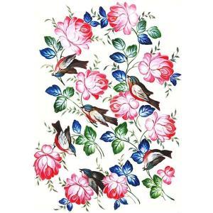 ロシア 露 クラフトプレミア Craft Premier 作品販売可デコパージュ用ライスペーパー A3 「小鳥」 25g/m CP00515  正規輸入品|ccpopo