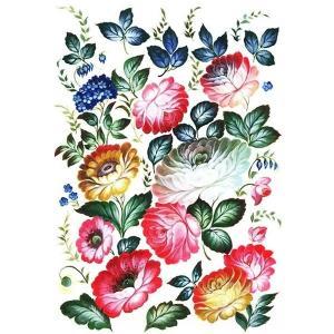ロシア 露 クラフトプレミア Craft Premier 作品販売可デコパージュ用ライスペーパー A3 「夏の花」 25g/m CP00737  正規輸入品|ccpopo