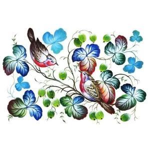 ロシア 露 クラフトプレミア Craft Premier 作品販売可デコパージュ用ライスペーパー A3 「優し気な鳥達」 25g/m CP00751  正規輸入品|ccpopo