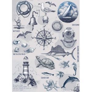 ロシア 露 クラフトプレミア Craft Premier 作品販売可デコパージュ用ライスペーパー A4 「海辺」 25g/m CP01499-1 正規輸入品|ccpopo