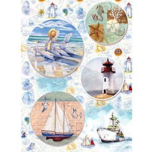 ロシア 露 クラフトプレミア Craft Premier 作品販売可デコパージュ用ライスペーパー A4 「海への想い」 25g/m CP05530-1 日本総代理店推奨 正規輸入品|ccpopo