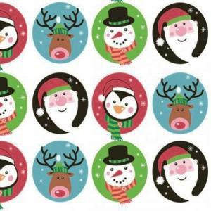 Daisy ポーランド ペーパーナプキン クリスマス バラ売り2枚1セット SDGW-004901 デコパージュ ドリパージュ|ccpopo