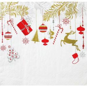 Daisy ポーランド ペーパーナプキン Lunch napkins クリスマス Xmas Hanging Decorations SDGW007501 バラ売り2枚1セット デコパージュ ドリパージュ|ccpopo